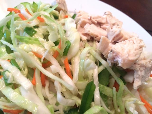 Vietnamese Cabbage Salad Detail
